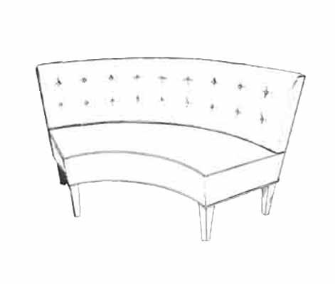 HF-223 - Curved Tufted Banquette