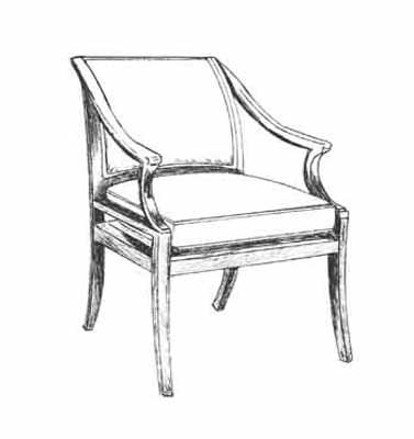 HF-441 - Klismos Arm Chair