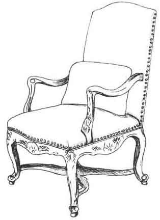 HF-108 - Louis XV Bergere, High Back