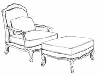 HF-125 - Louis XV Lounge Chair